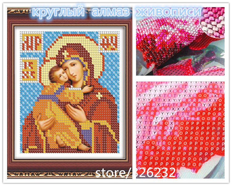 2014 free shipping 5D diamond circle round drill drill wind full embroidery of Russia 9033(China (Mainland))