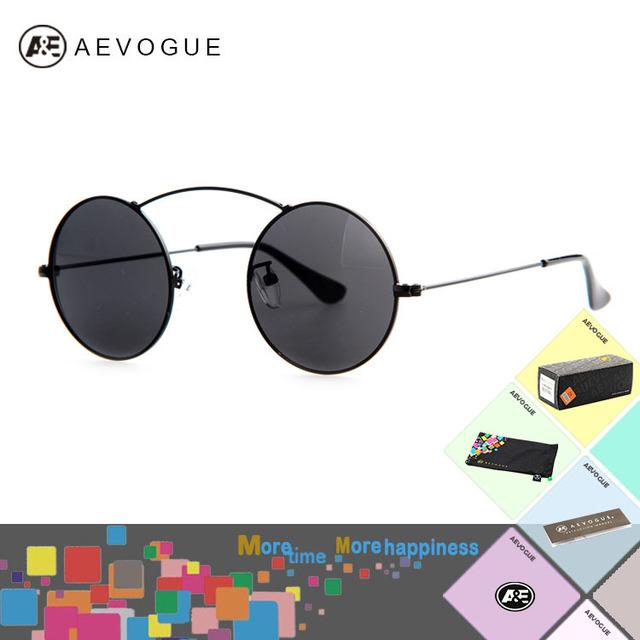 Очки aEVOGUE с чехол бренд женщин один луч круглый металлический каркас высокое качество солнцезащитные очки óculos UV400 AE0210