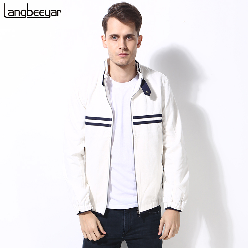 2016 New Fashion Brand College Jacket Men Clothes Turn-down Collar Slim Fit High-quality Cotton Casual Mens Jackets And Coats(China (Mainland))