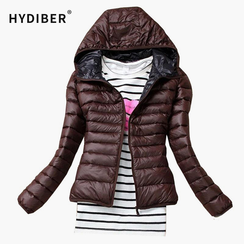 2016 Autumn Winter fashion Women Basic Jacket Coat Female Slim Hooded Brand Cotton Coats Casual Black Jackets women tops(China (Mainland))