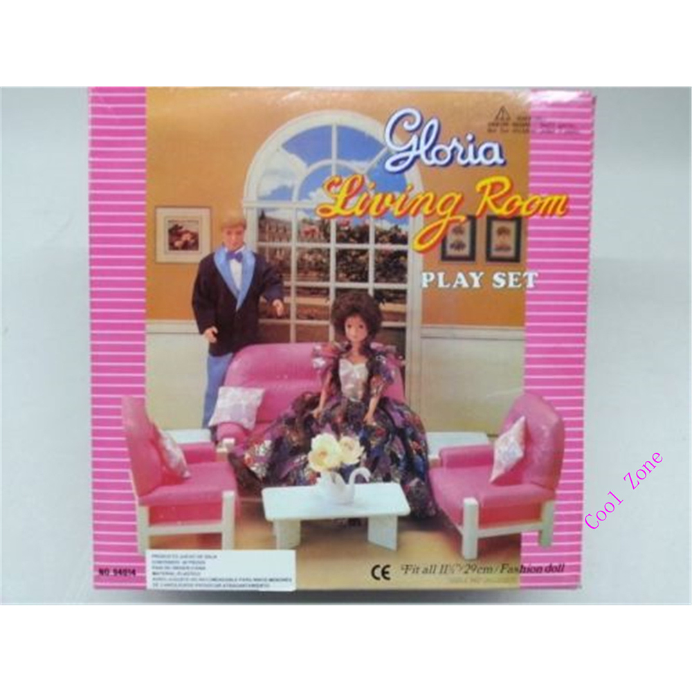 Miniature Furniture Living Room with Sofa and Tea Table for Barbie Doll House Best Gift Toys for Girl Free Shipping<br><br>Aliexpress