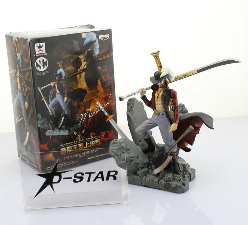 "EMS Shipping 12pcs 6"" One Piece Shichibukai Dracule Mihawk Hawk Eye Boxed 15cm PVC Action Figure Collection Model Doll Toy Gift(China (Mainland))"