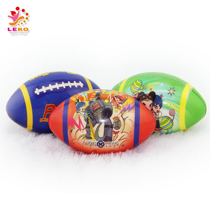 Rugby ball for Kids 13.2cm PU foam ball American Football Children educational sport toys gifts 360degree full colorful 3pcs/lot(China (Mainland))