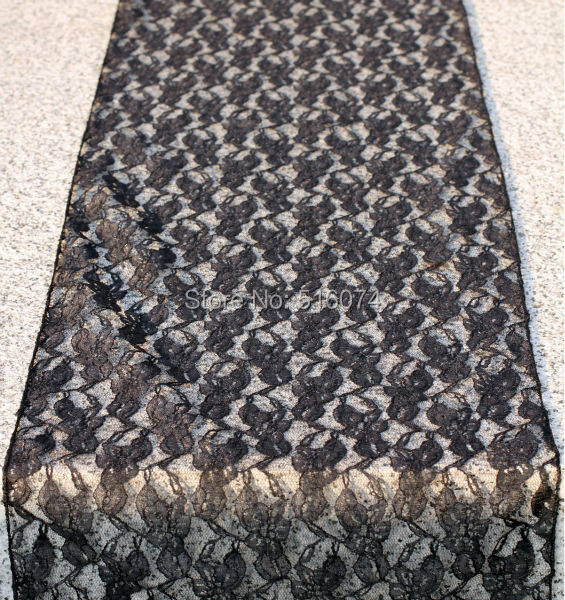 2015 New Fashion Black Lace Table Runner 30x275cm for Wedding Home Decoration Free shipping(China (Mainland))