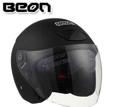 Фотография Free shipping genuine BEON B-217 dual lens motorcycle helmet half helmet male and female electric car helmet / matt black