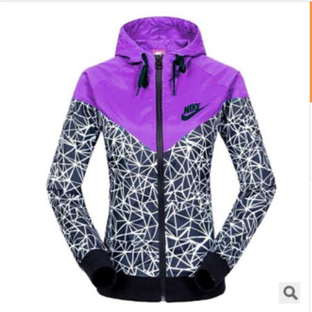 2015 Brand Special sales Spring Autumn new NK Women's sports jacket hooded jacket Women Fashion Thin Windbreaker Zipper Coats(China (Mainland))