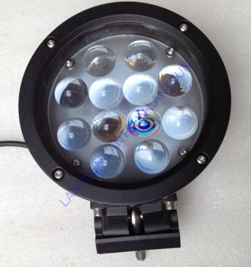 7  60W CREE full black LED Work Working Light Lamp Bulb Off-Road 4WD 12v 24v Truck SUV ATV Spot Flood<br><br>Aliexpress