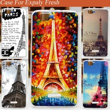 High quality diy Eiffel Tower  Explay Fresh case cover Hard printing PC Plastic Phone Cases For Explay Fresh Back Cover