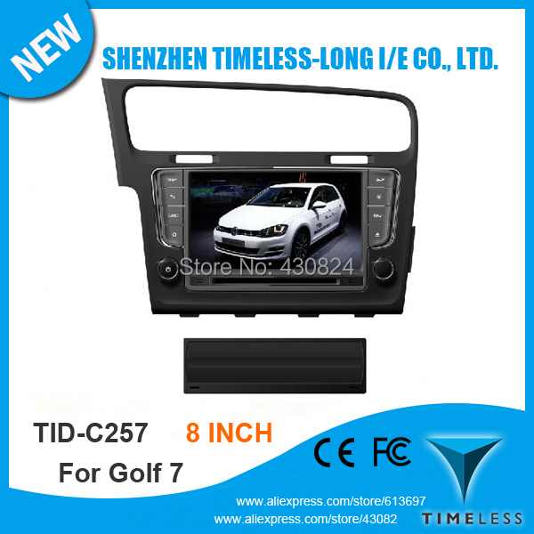 Car DVD GPS For VW Volkswagen Golf 7 2013 With A8 Chipset Dual Core 3G Wifi FM/AM Radio 20 Dics Playing Ipod USB/SD Free Map(China (Mainland))