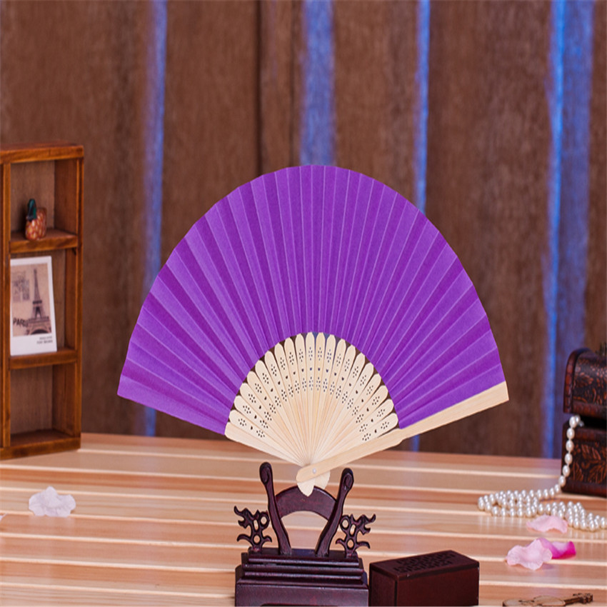 Summer Chinese Hand Paper Fans Pocket Folding Bamboo Fan Wedding Party Favor 100pcs/lot(China (Mainland))