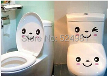 Buy 2014 New! 4pcs/lot Free Smile face wall sticker toilet sticker fridge sticker washing machine sticker for $1.50 in AliExpress store