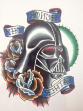 21X15 CM máscara Do Crânio Do Guerreiro Legal Beleza Tatuagem Temporária Tatuagem Adesivos À Prova D' Água Quente #5