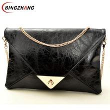 2016 Envelope clutch bag messenger bag shoulder pouch women pu leather handbags Hot Promotion! L4-399(China (Mainland))
