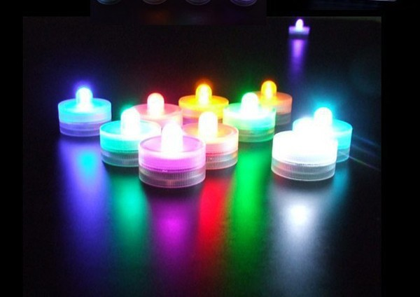 1000pcs/Lot Waterproof LED Candle Wedding Submersible Floralyte LED Tea Lights Party Decoration LED Floral Light(China (Mainland))