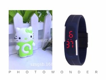 Buy Wholesale 2 pcs (1 set) C Button Cat Mini Music Mp3 LED Watch Player TF Slot Running Leisure. for $3.99 in AliExpress store