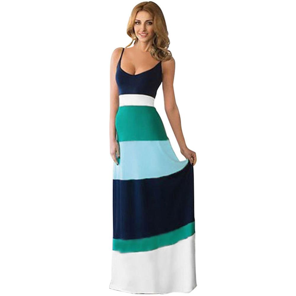 Innovative 2015 New Summer Beach Dresses Women Long Summer Maxi Dress Print O