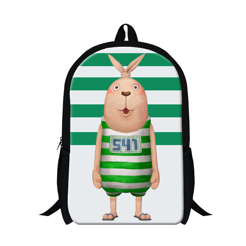 Usavich prison rabbit printing school bags for girls,cute backpacks for teenager children,cartoon animal backpack  day pack