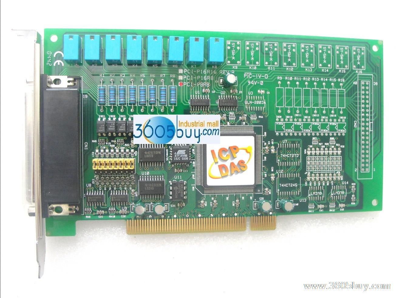 Board pci pci-p8r8 8 relay 8 light digital card(China (Mainland))