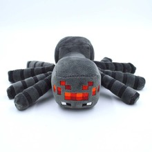 Good Quality 1PCS Cute Minecraft Animal Patterns Plush Soft Toy Stuffed Doll Kids Gift Spider 17cm(China (Mainland))