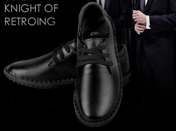 New 2014 brand spring autumn genuine leather casual shoes male the trend of low-top men's Business single shoes Eur 38-44