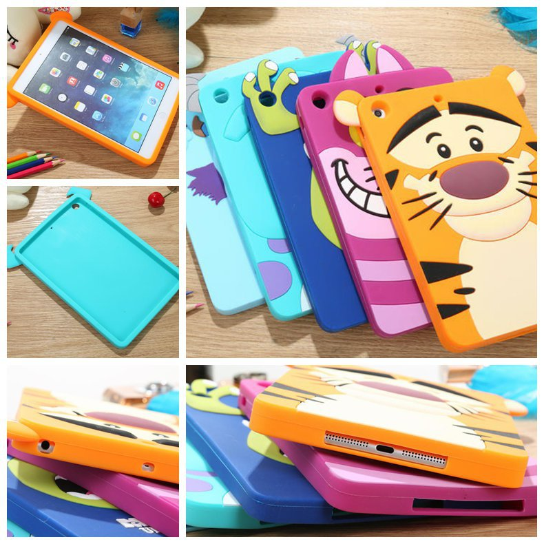 arrive festival gift Cute lovely 3D Cartoon Minnie monster tiger cat silicon Shell Case cover iPad mini 2 - LONWAY Electronics technology Co. Ltd store