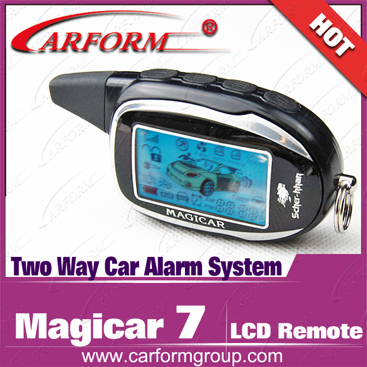 factory whole sales lcd M7 pager speical for original Scher-Khan Magicar 7 two way car alarm system(China (Mainland))