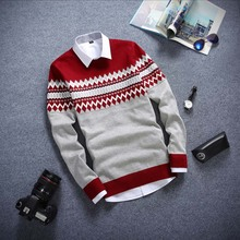 Free Shipping Autumn new models round neck long-sleeved men's sweater pullover thin coat Men's Clothing Sweaters(China (Mainland))