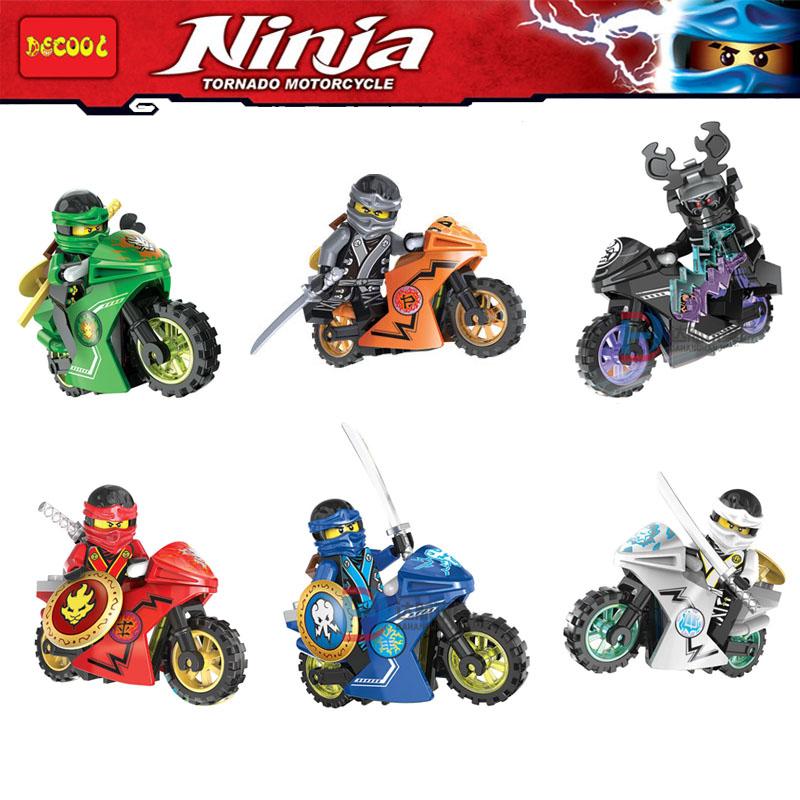 Phantom Ninja Tornado Motorcycle Kai Garmadon Cole Minifigure Building Blocks Bricks Toy Decool 10017-10022 Compatible with Lego(China (Mainland))