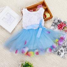 New Summer Kid Baby Girls Princess Tutu Dress Lace Bow Flower Vest Dress Mini Dress Hot