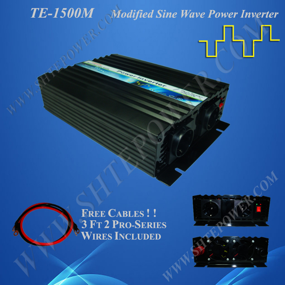 12V 24V off grid solar wind hybrid inverter 1500W, modified sine wave power converter 12V 220V 1.5KW(China (Mainland))