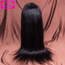 7A Silky Straight Full Lace Wig Brazilian Virgin Hair Straight Glueless Lace Front Wig Human Hair With Baby Hair For Black Women(China (Mainland))