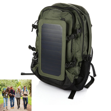 Outdoor Solar Backpack Solar Charger Back Pack Bag with Removable 6.5W Solar Panel for Cell Phones / 5V Devices(China (Mainland))