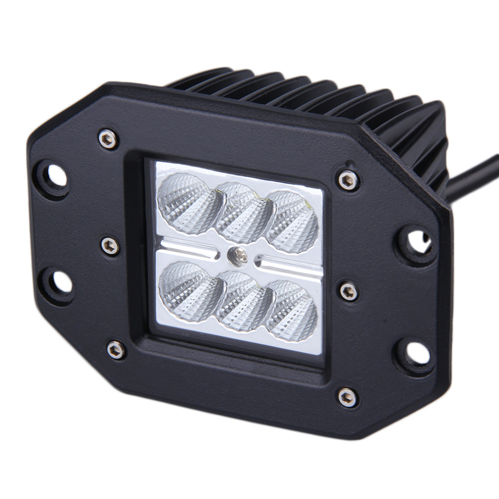 1 x 4INCH 18W CREE Square Flood LED Work Light Bar Bumper Off Road TRUCK for Jeep(China (Mainland))