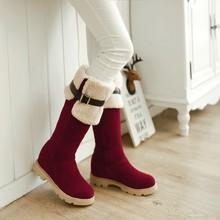 Zapatos de mujer zapatos de gladiador invierno nieve botas moda sobre la rodilla botas largas botas de tacón plano Martin botas damas de gran tamaño 34-43(China (Mainland))