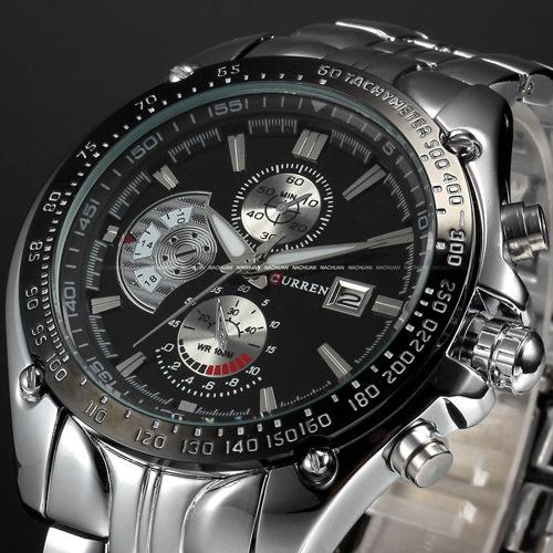 Гаджет  2014 New CURREN Luxury Brand Watches Men Quartz   Fashion Casual Male Sports Watch Date Clock Full Steel Military Wristwatches None Часы