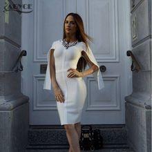 2016 wholesale solid white color long sleeve open bodycon elegant luxury noble celebrity party prom fashion HL bandage dresses(China (Mainland))
