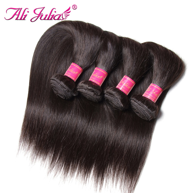 Eurasian Virgin Hair Grade 7A Unprocessed Virgin Hair 4 Bundles Eurasian Straight Virgin Hair European Hair Weave 100G #1B Unice(China (Mainland))