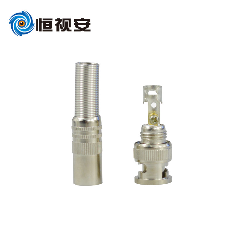 bnc connector q9 copper core free solder metal joints Full Metal BNC connectors Q9 head Camcorder Accessories(China (Mainland))