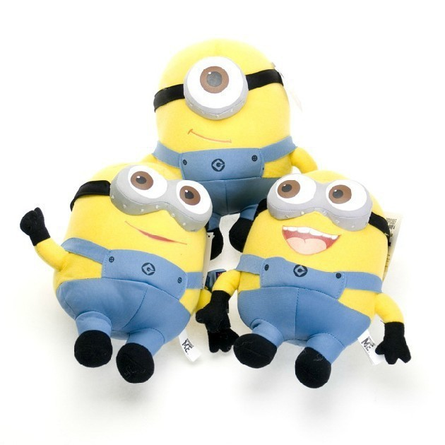 hot sell !!! free shiping 3pcs / set Despicable ME Movie Plush Toy 18cm Minion Jorge Stewart Dave toys for chinldren !(China (Mainland))