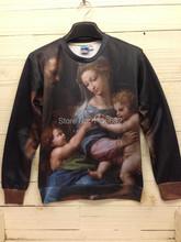 Kimic Blessed Virgin Mary Religion Tracksuit for Women Men Sports 3d Print baby Harajuku Christ Sweatshirt Christianity 8005(China (Mainland))