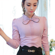 Buy 2016 Autumn long sleeve body shirts women bow shirts women work wear bow tops lady office blouse OL tops sexy shirts women for $17.88 in AliExpress store