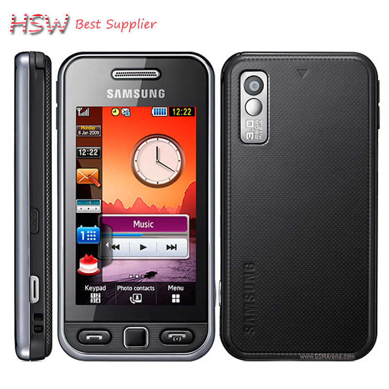 100% Original Samsung S5230 Unlocked 3.0 inch Touch screen 2MP Camera Cell Phones in stock Free Shipping(China (Mainland))