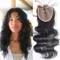 2 3 DAYS Fedex Fast Virgin Human Hair Lace Closure Bleached Knots Cheap 4x4 Brazilian Body