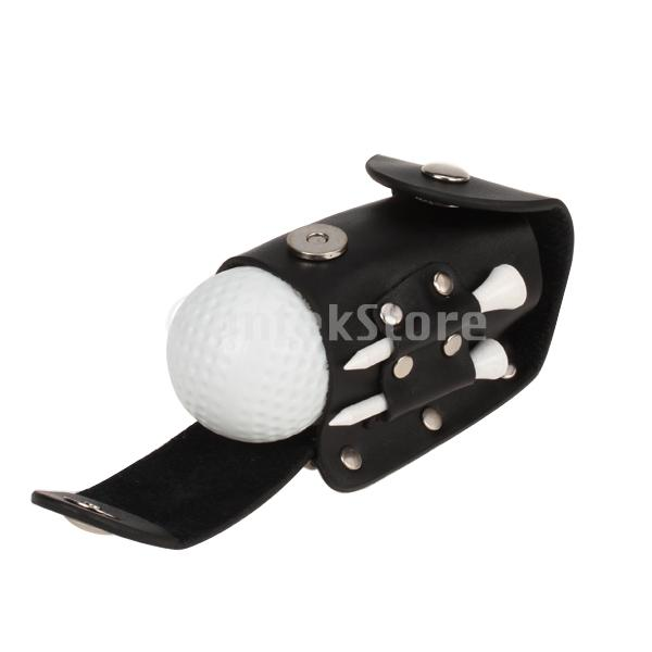 Golf Ball Tee Holder Golfers PRO Clip Leather Pouch Wood Tee 2 Ball 2 Tee(China (Mainland))