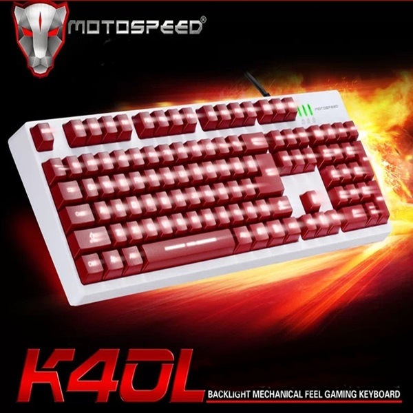 New Arrival Motospeed K40L Backlit USB Wired Mechanical Feel Gaming Keyboard PC Desktop Laptop(China (Mainland))
