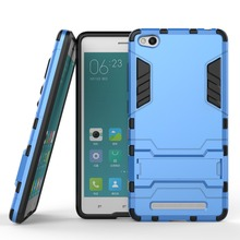 For XiaoMi RedMi 3 Cool 2 In 1 PC+TPU Hard Stand Holder Case For Xiaomi Red Rice 3 Covers Cases Mobile Phone Accessories