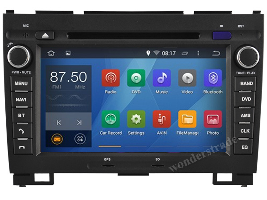Android 4.4 Car DVD player Radio Stereo GPS Great Wall Hover Haval H3 H5 X200 / 3G WIFI OBD DVR 1024*600 HD screen