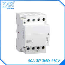 Buy Modular three pole household small AC contactor Household AC Power Contactor Modular 40A 3P 3NO 110V for $18.86 in AliExpress store