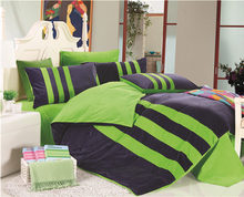 New Autumn And Winter warm 4pcs bedding sets,fashion Larry plain sporty stripes bed sheet,Crystal velvet bed linen queen size(China (Mainland))