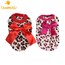 Buy Pet Dog Puppy Clothes Dogs Bowknot Costume Pajamas Small Milk Dogs Chihuahua Clothing Leopard Pattern Hoodie 4 Size for $1.65 in AliExpress store
